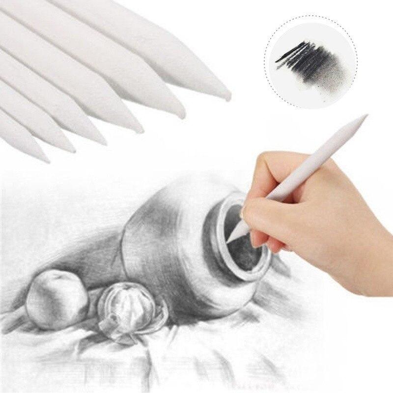6 Pcs Double Head Art Drawing Tool Pastel New Blending Smudge Tortillon Material Sketching Paper Pencil Sketch Correction Pen