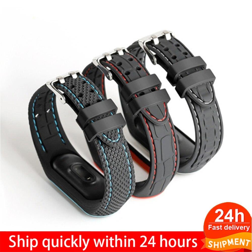 Bracelet For Xiaomi Mi Band 3 4 Sport Band Watch Silicone Wrist Strap For Xiaomi Mi Band 3 4 Bracelet Mi Band 4 3 Band