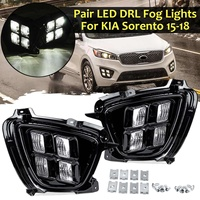 Car Led Drl for Kia Sorento Asian Model Edition 2015 2016 2017 2018 Car Front Bumper Daytime Running Lights Driving Grills