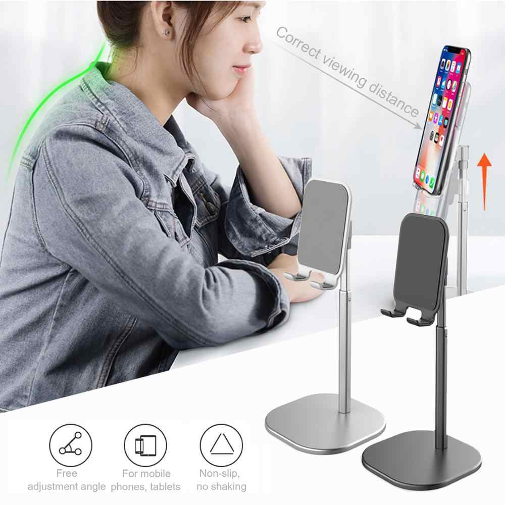Besegad Adjustable Sudut Logam Tablet Meja Ponsel Meja Desktop Stand Pemegang untuk iPad Iphone 11X8 7 Samsung xiaomi Huawei