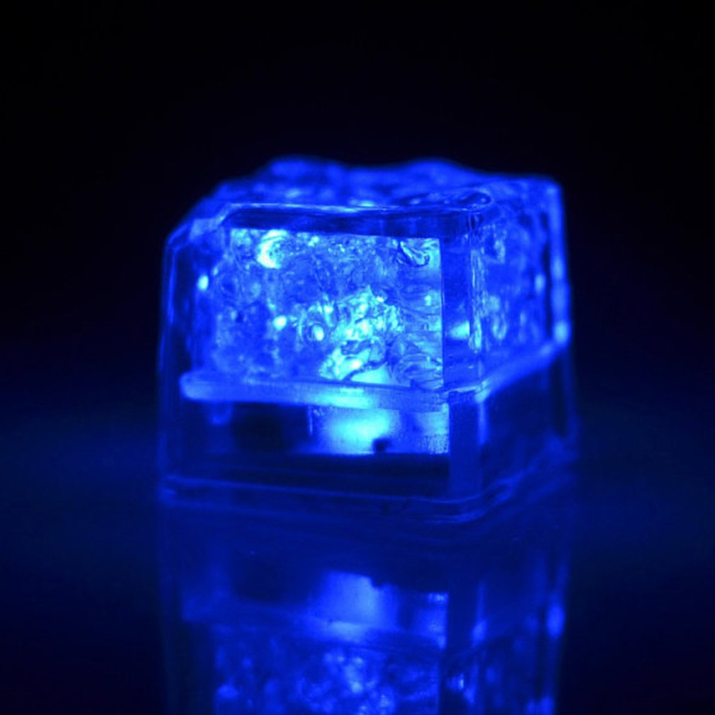 DIY Party Decorative LED Ice Cube Light Multi-Color Liquid Sensor Ice Cube Light LED Glow Light Drinking Wine Wedding