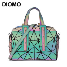 DIOMO New Arrival Luminous Geometric Women's Handbags Pillow Shoulder Bag Boston