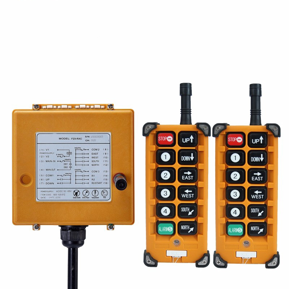 TELECRANE Wireless Industrial Remote Controller Radio Hoist Remote Control <font><b>2</b></font> Transmitter + <font><b>1</b></font> Receiver F23-BB image