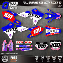 QUEEN X MOTOR Custom Team графические фоны наклейки 3M Набор наклеек для YAMAHA 14-18YZ250F 15-18YZ250FX WRF250 14-17YZ450F 012