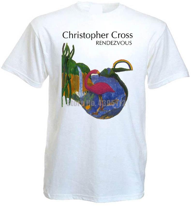 Christopher Cross Rendezvous v6 T shirt white all sizes S-5XL