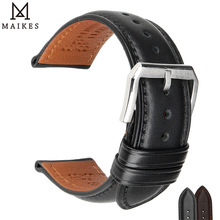 MAIKES luxury Genuine Leather Watch Band Soft Cowhide Leather Strap Bracelet For MIDO TISSOT Casio Watchbands