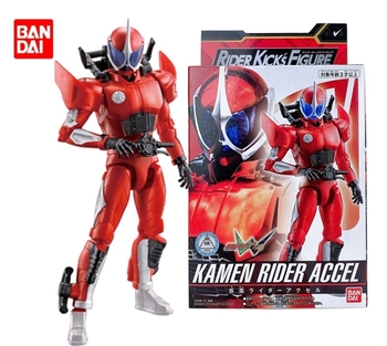 Bandai Japanese SHF True Bone Carving Kamen Rider W ACCEL Police Rider Red A Brother  PVC Figure Model Dolls Toys Figurals