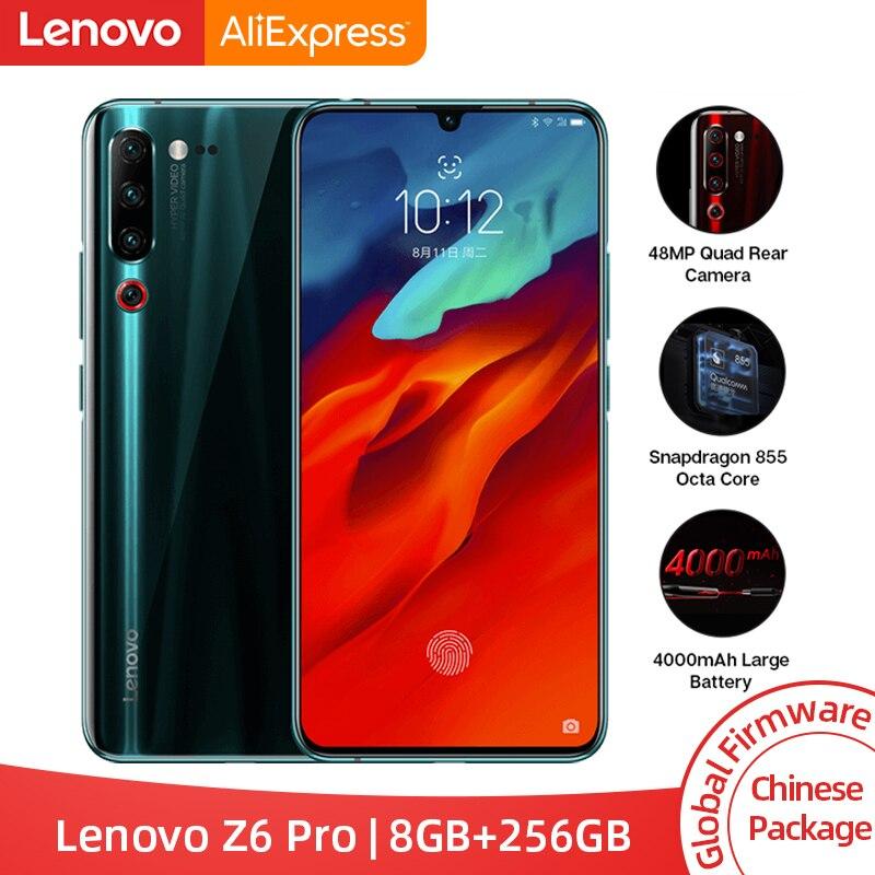 Rom global lenovo z6 pro 8 gb 256 gb snapdragon 855 octa núcleo smartphone 6.39