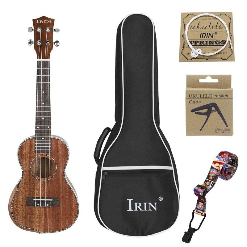 IRIN Concert ukulélé Kit 23 pouces acajou bois Ukelele bois touche cou Hawaii 4 cordes Guitarra