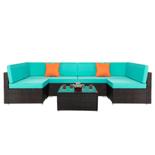 7pcs/Set Rattan Sofa Set Decoration Comfortable Combination Stable Durable for Home HFing