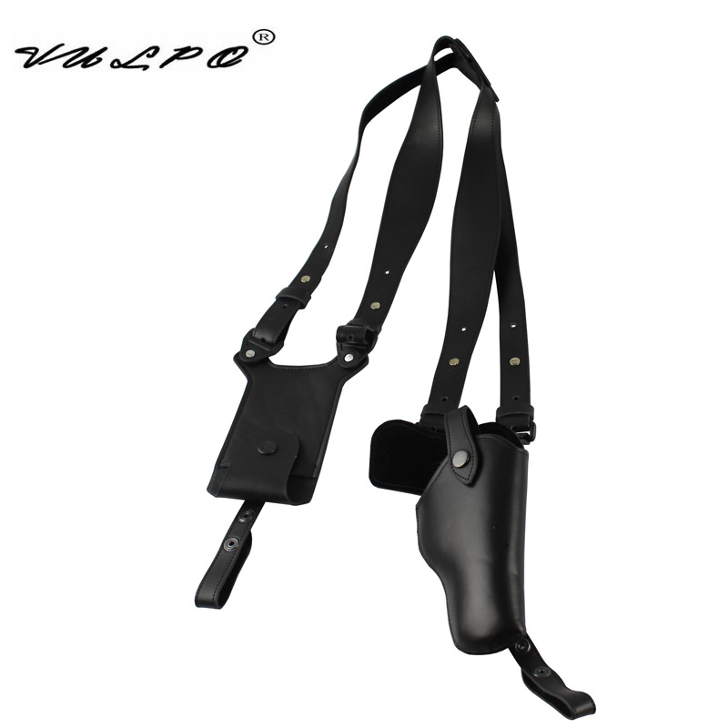 VULPO High Quality Leather Shoulder Holster With Magzine Pouch  For Pistol QSZ 92
