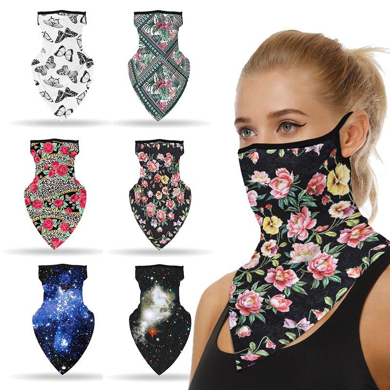 Bufanda Unisex para cubrir cuello y rostro, mascarilla con elásticos, pasamontañas transpirable, pañuelo para ciclismo, accesorio para deportes al aire libre