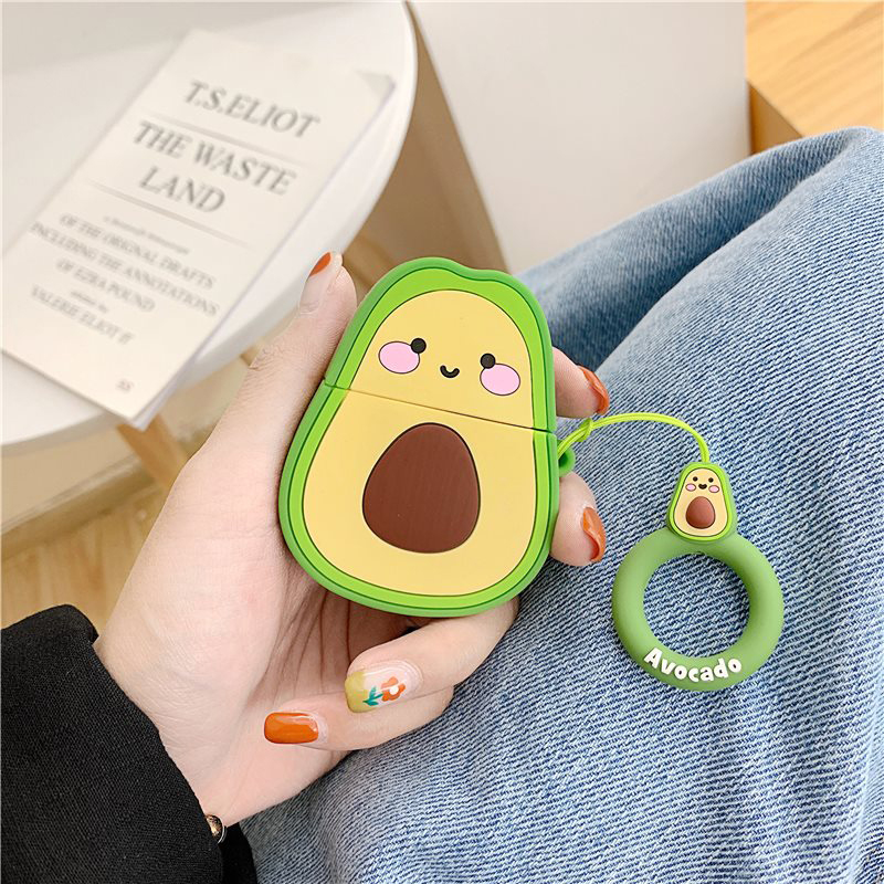 Cute Earphone Case For Airpods Case Silicone Cute Avocado Peach Fruit Strawberry Cover For Apple Air Pods 2 Earphone Accessories