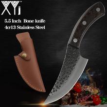 XYj 2 sztuk ze stali nierdzewnej siekanie tasak nóż płaszcza skórzana pokrywa ryby mięso maszyna do cięcia kości polowanie Camping serbski tanie tanio CN (pochodzenie) STAINLESS STEEL Dwuczęściowy zestaw Ce ue Lfgb Zestawy noży Ekologiczne 5 5 inch Slaughter Butcher Cleaver
