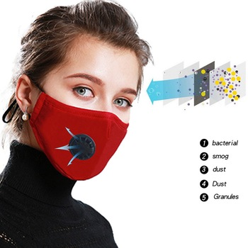 PM2.5 Anti-fog Mask Anti-Dust Washable Anti Haze Mask Activated  Filter Respirator Mouth-muffle for Travel Outdoor Anti-flu Mask