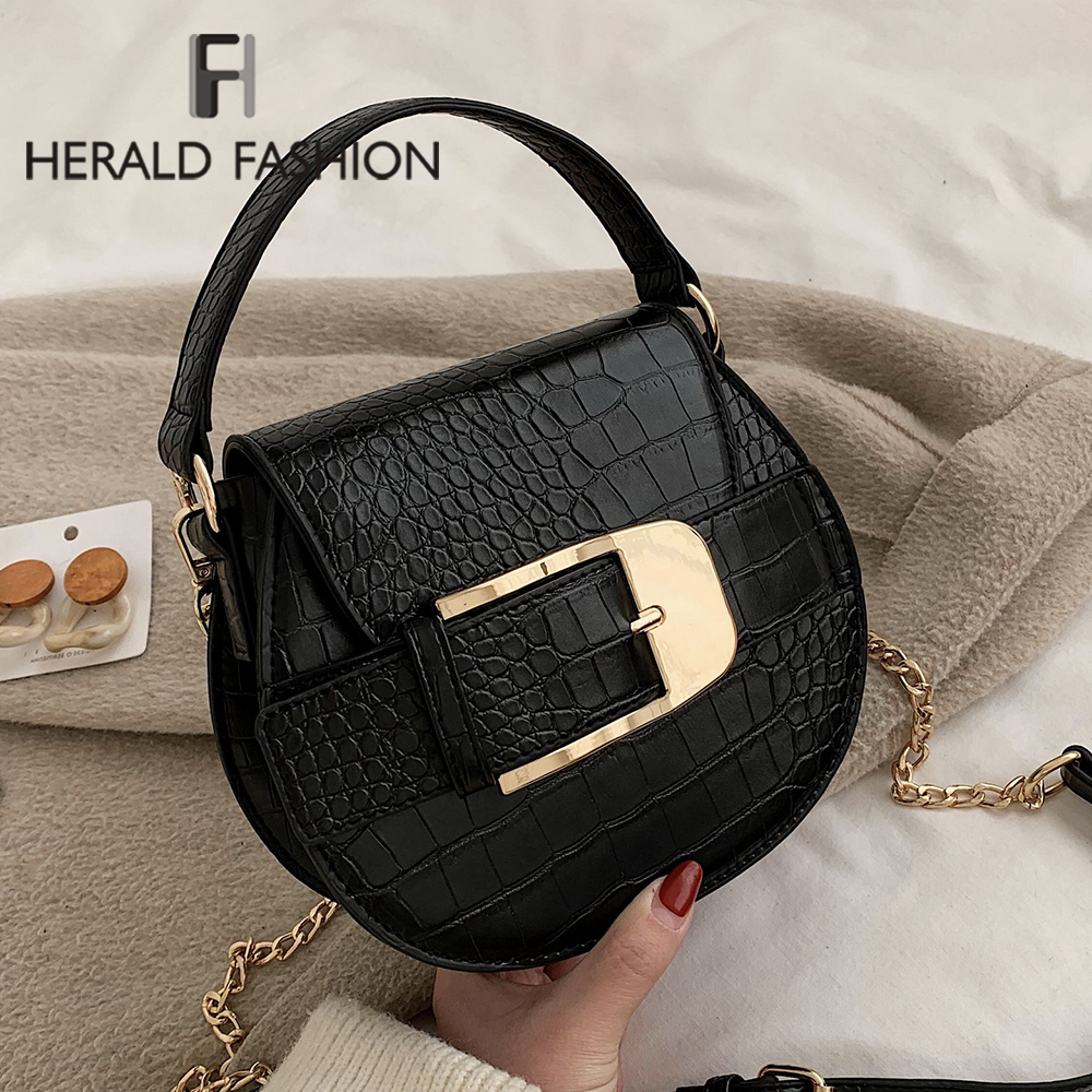 Fashion Small Round Bag 2020 Winter New Cross-body Bag Stone Pattern Small Handbag Shoulder Zipper Handbag Mobile Phone Bag