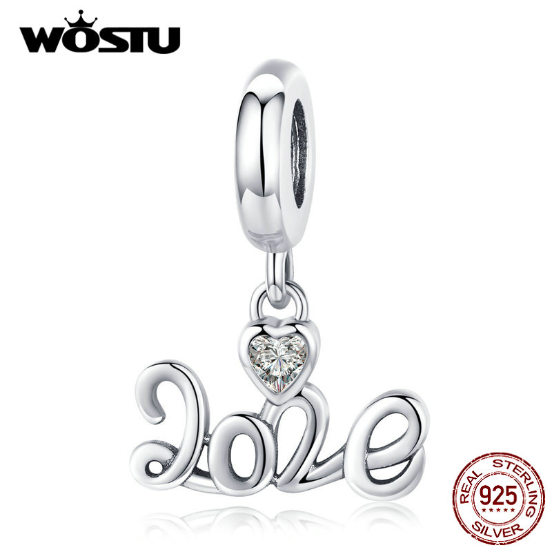 WOSTU Authentic 925 Sterling Silver Love Of 2020 Heart Charms Fit Original Bracelet Pendant Beads For Women Jewelry CQC1354
