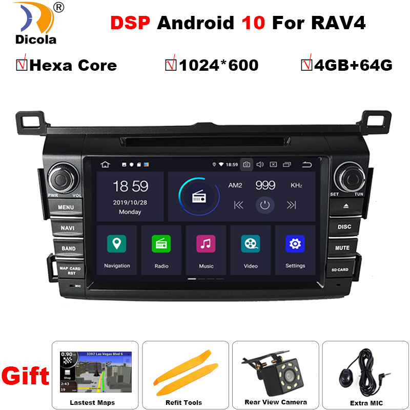 PX6 4G+64G DSP IPS 2 Din Android 10 car multimedia dvd player GPS for <font><b>Toyota</b></font> <font><b>RAV4</b></font> <font><b>Rav</b></font> <font><b>4</b></font> 2013 <font><b>2014</b></font> <font><b>2015</b></font> <font><b>2016</b></font> <font><b>2017</b></font> 2018 car radio image
