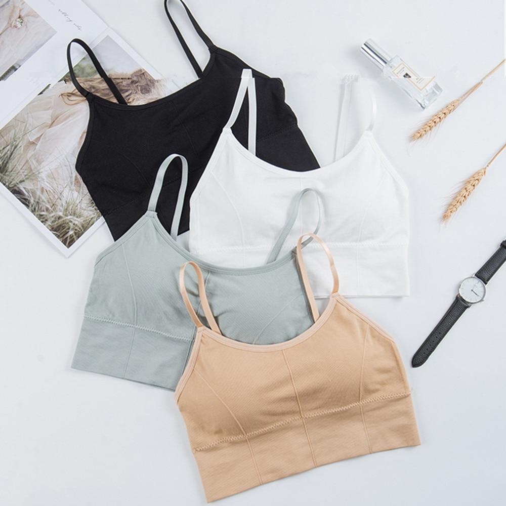 Sexy Bra Underwear Bas For Women Bralette Seamless Padded Bra Lingerie Cotton Wireless Fitness Tops Brassiere Bra Solid New 1