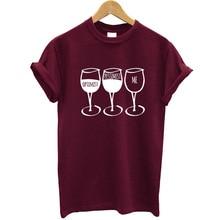 Goblet Wine Print T Shirt Women Short Sleeve O Neck Loose Tshirt 2020 Summer Women Tee