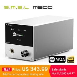 Smsl m500 dac mqa es9038pro es9311 xmos XU-216 32bit 768 khz dsd512 hi-res decodificador de áudio & amplificador de auscultadores