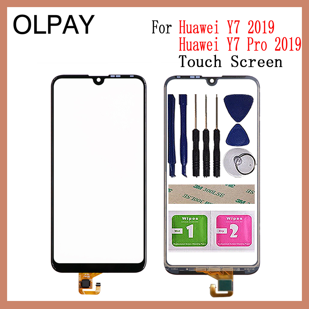 OLPAY 6.26 Inch For Huawei Y7 Pro 2019 Touch Screen Digitizer For Huawei Y7 2019 Touch Panel Touchscreen Sensor Front Glass