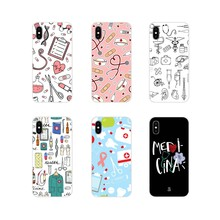 Nifty Nurses Med Stuff For HTC One U11 U12 X9 M7 M8 A9 M9 M10 E9 Plus Desire 630 530 626 628 816 820 830 Cell Phone Shell Covers(China)