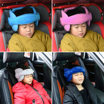 Baby Kids Adjustable Car Seat Head Support Neck Head Fixed Sleeping Pillow Fastening Belt Baby Saftey Pillows image
