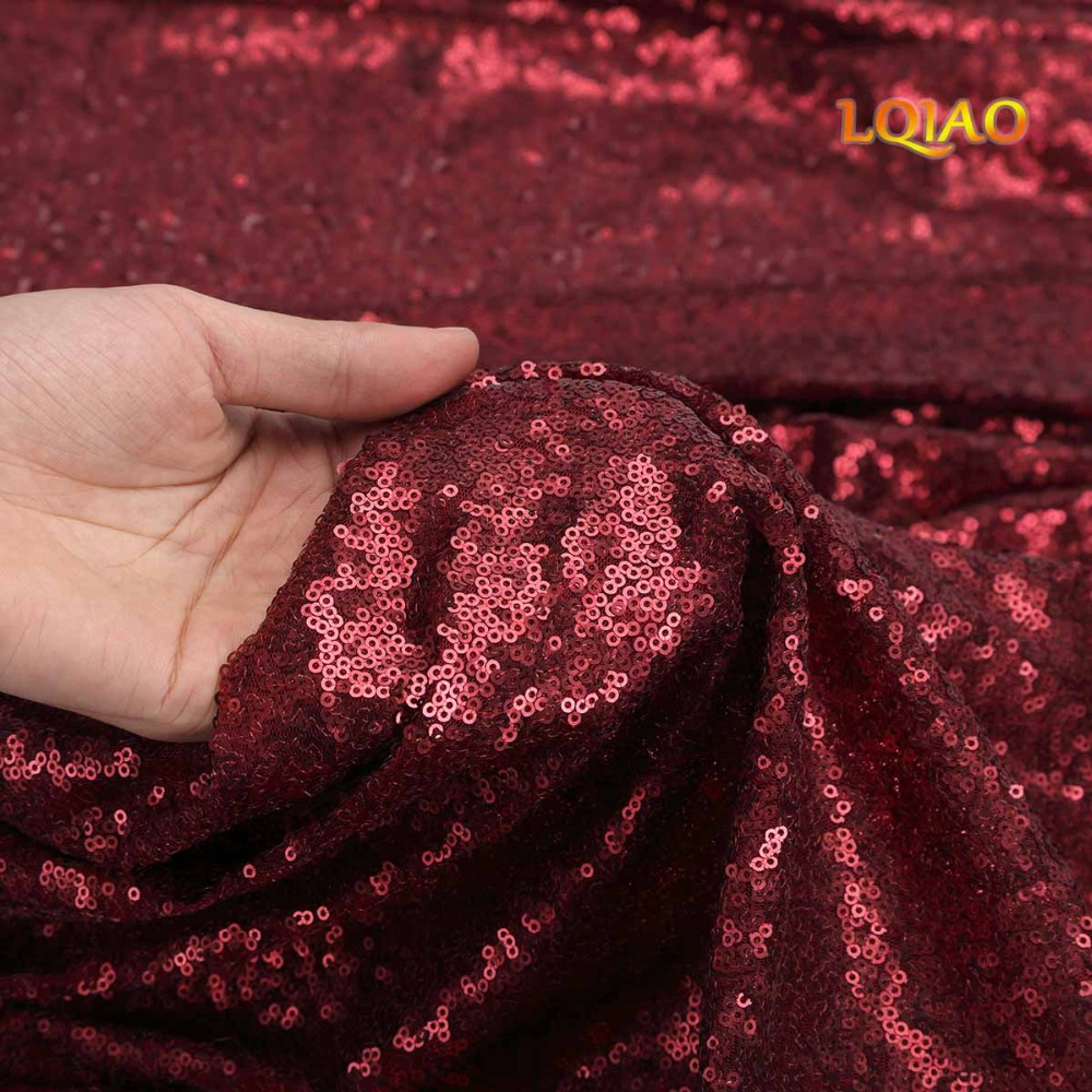 Burgundy Sequin Curtain Backdrop-007