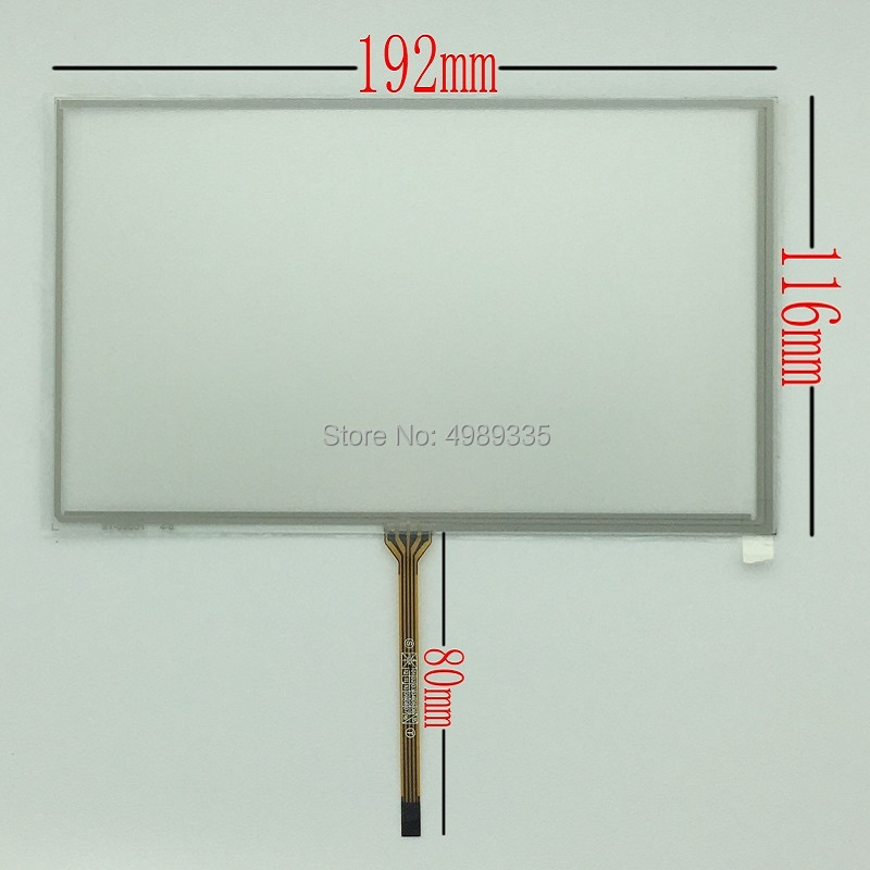 8-inch Resistive Touch Screen Panel 4-wire St080 For Car DVD GPS Navigation Handheld Device Touch Screen 192X116mm