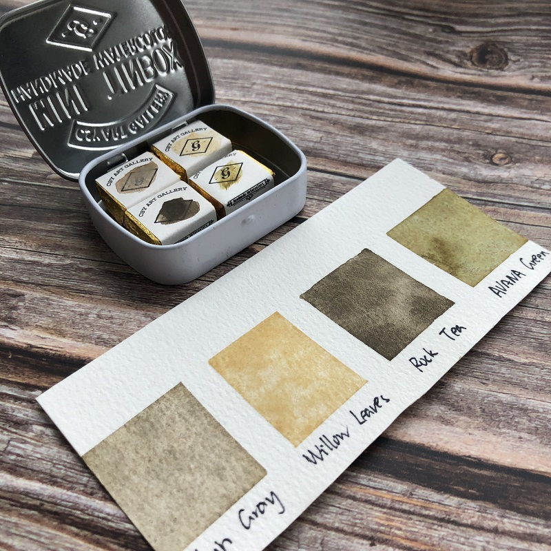Make Your Own Watercolor Palette Custom Handmade Minerals Watercolour Calligraphy Ink -Hand Lettering -Aquarelleart supply