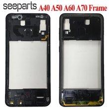 Do Samsung Galaxy A40 A50 A60 a70 obudowa środkowa obudowa A405 A505 A606 A705 rama środkowa ramka środkowa wymiana płyty