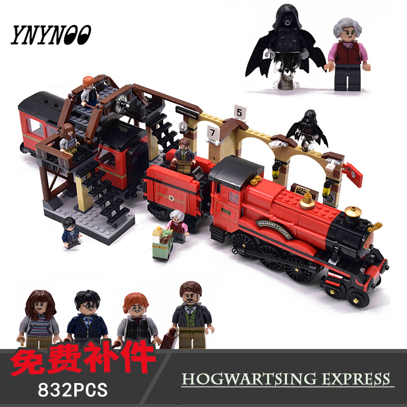 <font><b>16055</b></font> 39146 Magic Academy Ron Hermione Express Set Train Building Blocks Bricks Kids boys Toys for Christmas Gift image