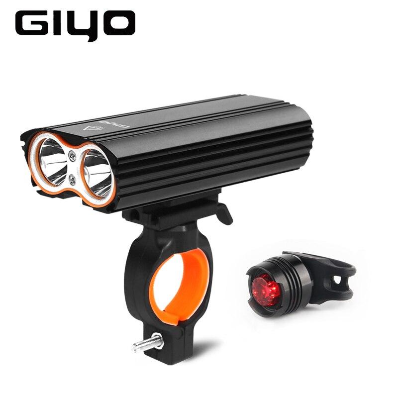 GIYO Bicycle Bike Light Front 2400Lm Headlight 2 Battery T6 Leds Bicycle Light Cycling Lamp Lantern Flashlight for Bicycle Bike