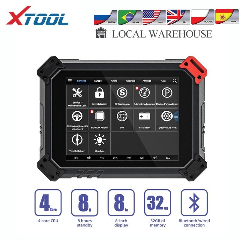 XTOOL 2020 New PS80 Full System Diagnostic Tools OBD2 Key Programmer Auto Scanner Odometer Adjustment EPB DPF Free Update EZ500