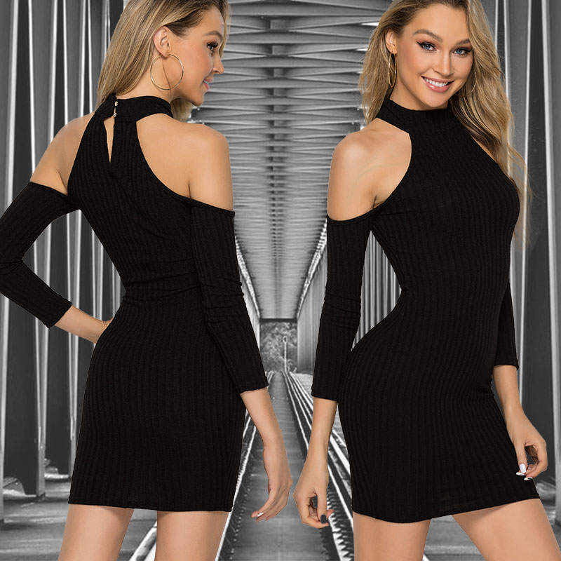 Sexy Off Shoulder <font><b>Dress</b></font> Women Vestidos Verano 2019 Summer Sexy Elegant Black Basic Bodycon Bandage Midi Celebrity Party <font><b>Dresses</b></font> image