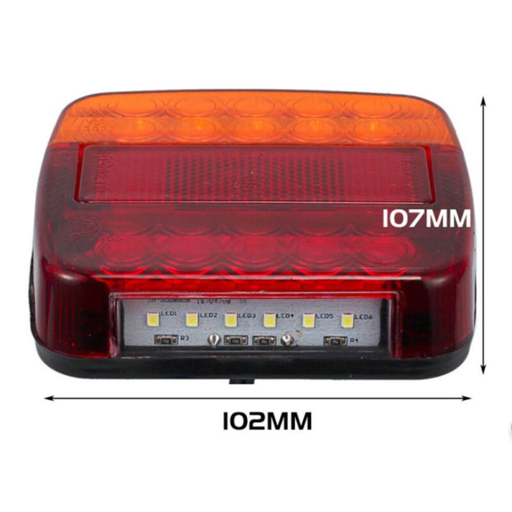 2 шт. светодиодный автомобильный трейлер, задний стоп сигнал, стоп сигнал, светильник, лампа, универсальное украшение для автомобильной фары светильник, украшение, светодиодный задний фонарь прицепа|Система освещения для грузовика|   | АлиЭкспресс