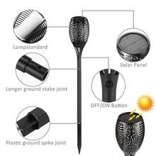 New 96 Led Solar Flame Lamp IP65 Waterproof For Garden Landscape Decor Garden Lawn  Light Landscape Lights 1/2/3/4Pcs