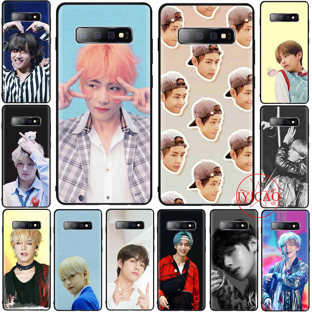 Kim Taehyung V Soft Case Voor Samsung S6 S7 S8 S9 S10 Rand S10e Note 8 9 10 Plus Cover