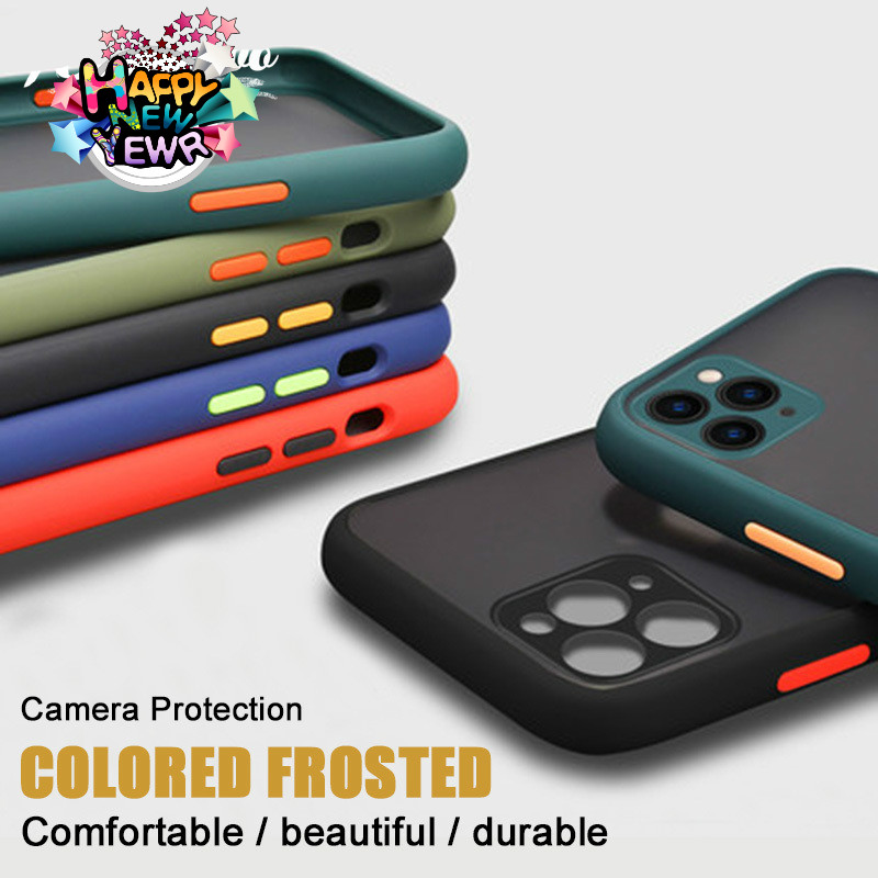 Shockproof Armor <font><b>Case</b></font> For iPhone 11 Pro XS MAX XR X Matte Camera Protection Translucent <font><b>Case</b></font> For iPhone 7 8 6 S Plus Phone Cover image