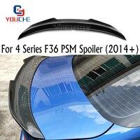 F36 Carbon Fiber PSM Style Rear Spoiler Wing For BMW 4 Series 4-door Sedan 2014 + 420i 428i 430i
