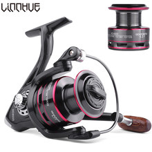 LINNHUE Fishing Reel 500-7000 Metal Spool Spinning Reel 8KG Max Drag 4.7:1 5.2:1 Spare Spool Saltwater Reel Fishing Accessories