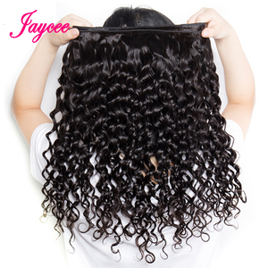 Image 5 - Jaycee Brazilian Water Wave Bundles With Closure Wet And Wavy Human Hair Bundles With Closure 3 Bundles With Closure Hair Weave