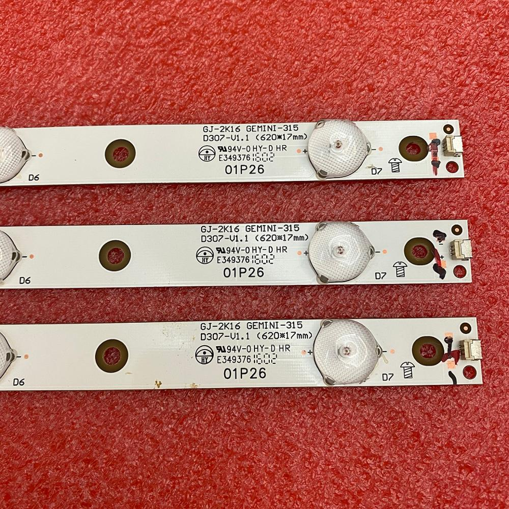 3 PCS/lot LED Backlight Strip For 32LJ500 32LH500D 32PFS6401 KDL-32R330D GJ-2K16 D2P5-315 01P26 01N18 01N19 GEMINI-315 D307-V1.1