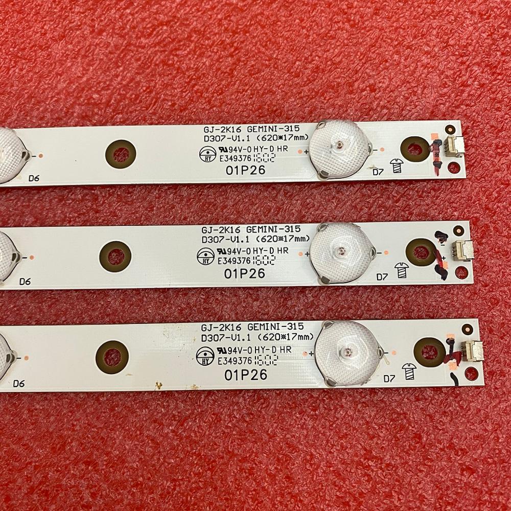 3 PCS/lot LED Backlight Strip For 32LJ500 32LH500D 32PFS6401 KDL-32R330D GJ-2K16 D2P5-315 01P26 01N18 01N19 GEMINI-315 D307-V1.1