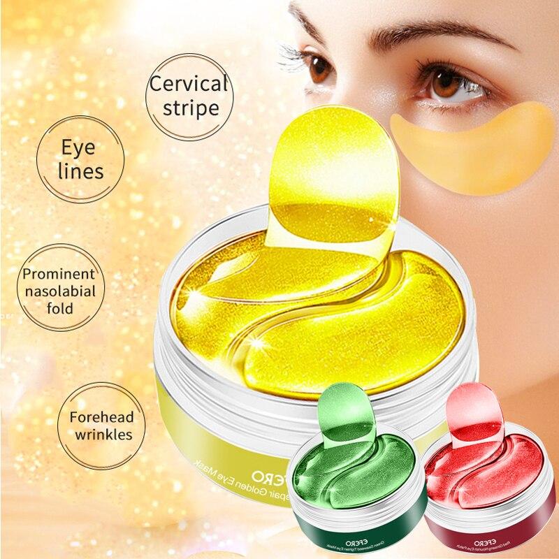 Masque pour les yeux en collagène, dissolvant de cernes, patchs pour les yeux en Gel, soins anti-poches, Anti-âge, hydratant, 90/100 paires