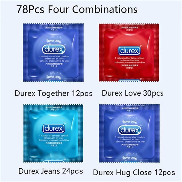 Durex Condom Mixed 100Pcs/Pack Sensation Value 4 Types Ultra Thin Lubricated Condom for Men Natural Latex Adult Sex Toy Products