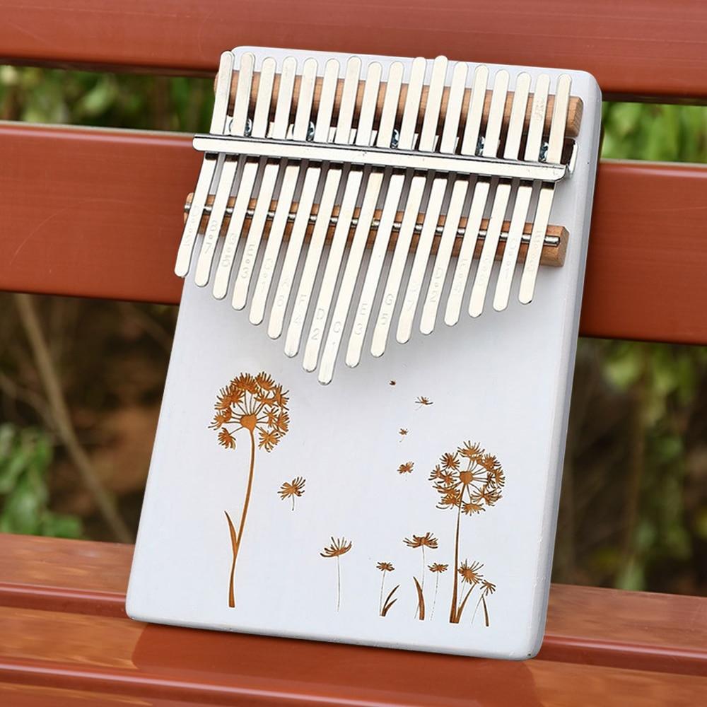 Body-Musical-Instruments Portable 17 Keys Kalimba White Thumb Piano Sound Board Tuning Sound Beginner Entry Instrument Piano