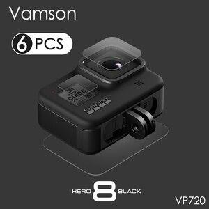 Image 1 - Vamson for GoPro Hero 8 Black Tempered Glass Lens + LCD Screen Protector Protective Film for Go Pro 8 VP720