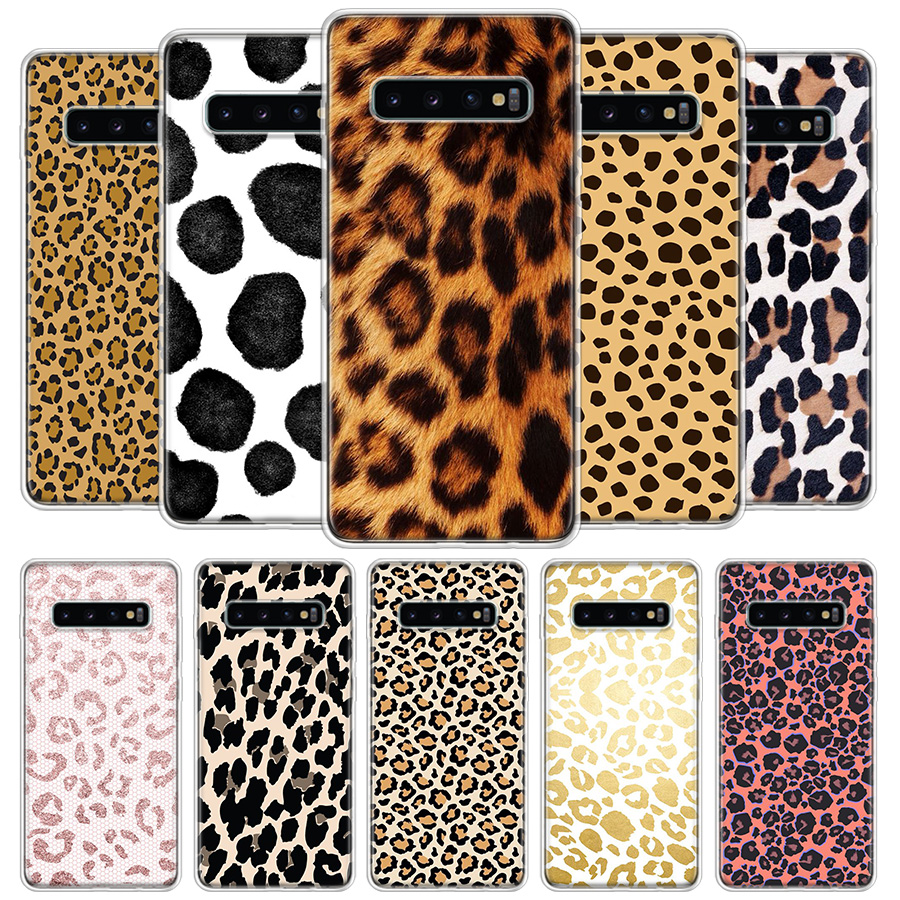 Leopard Pattern Cover <font><b>Phone</b></font> <font><b>Case</b></font> For <font><b>Samsung</b></font> Galaxy S20 Ultra S10 Lite Note 10 9 8 S9 S8 J4 J6 J8 Plus + <font><b>S7</b></font> Edge Coque image